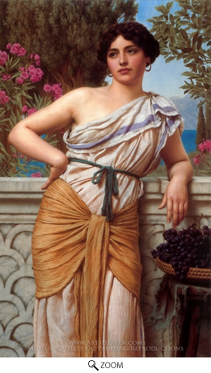 John William Godward, Reverie 1912 oil painting reproduction
