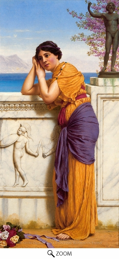 John William Godward, Rich Gifts Wax Poor When Lovers Prove Unkind oil painting reproduction