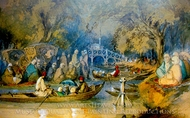 River painting reproduction, Amedeo Preziosi