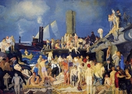 Riverfront, No. 1 painting reproduction, George Bellows