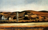 Road and Houses, South Truro painting reproduction, Edward Hopper