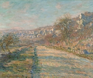 Road of La Roche-Guyon painting reproduction, Claude Monet
