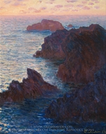 Rocks at Belle-Ile, Port-Domois painting reproduction, Claude Monet
