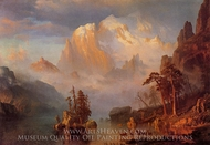 Rocky Mountains painting reproduction, Albert Bierstadt