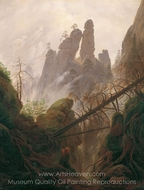 Rocky Ravine painting reproduction, Caspar David Friedrich