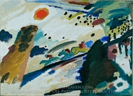 Romantic Landscape painting reproduction, Wassily Kandinsky