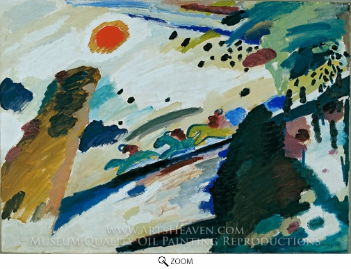 Wassily Kandinsky, Romantic Landscape oil painting reproduction