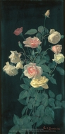Roses painting reproduction, George Cochran Lambdin