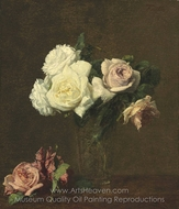 Roses painting reproduction, Henri Fantin-Latour