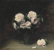 Roses in a Glass painting reproduction, Henri Fantin-Latour