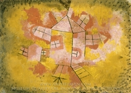 Rotating House painting reproduction, Paul Klee