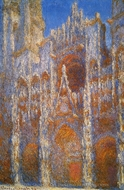 Rouen Cathedral, Sunlight Effect painting reproduction, Claude Monet