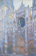 Rouen Cathedral, West Facade painting reproduction, Claude Monet
