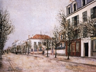 Rue de Banlieue painting reproduction, Maurice Utrillo