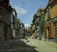 Rue de la Bavole, Honfleur painting reproduction, Claude Monet