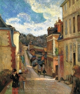 Rue Jouvenet in Rouen painting reproduction, Paul Gauguin