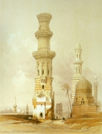 Ruined Mosques painting reproduction, David Roberts