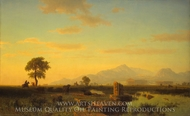 Ruins of Paestum painting reproduction, Albert Bierstadt