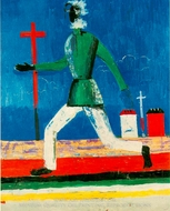 Running Man painting reproduction, Kasimir Malevich