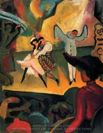 Russian Ballet I painting reproduction, August Macke