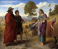 Ruth in Boaz's Field painting reproduction, Julius Schnorr Von Carolsfeld