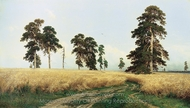 Rye painting reproduction, Ivan Shishkin