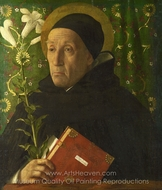 Saint Dominic painting reproduction, Giovanni Bellini