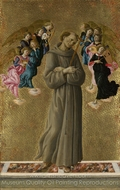 Saint Francis of Assisi with Angels painting reproduction, Sandro Botticelli