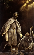 Saint Francis's Vision of the Flaming Torch painting reproduction, El Greco