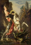 Saint George and the Dragon painting reproduction, Gustave Moreau