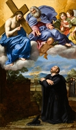 Saint Ignatius of Loyola's Vision of Christ and God the Father at La Storta painting reproduction, Domenichino