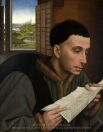 Saint Ivo painting reproduction, Rogier Van Der Weyden