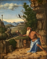 Saint Jerome in a Landscape painting reproduction, Cima Da Conegliano