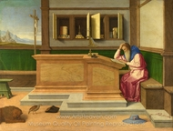 Saint Jerome in His Study painting reproduction, Vincenzo Catena