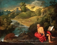 Saint Jerome in the Wilderness painting reproduction, Paris Bordone