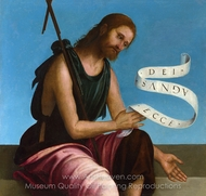 Saint John the Baptist painting reproduction, Lorenzo Costa