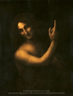 Saint John the Baptist painting reproduction, Leonardo Da Vinci