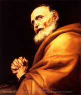 Saint Peter in Penitence painting reproduction, Jusepe De Ribera