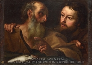Saints Andrew and Thomas painting reproduction, Gian Lorenzo Bernini