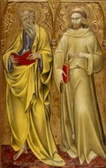 Saints Matthew and Francis painting reproduction, Giovanni Di Paolo