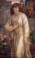 Salutation of Beatrice painting reproduction, Dante Gabriel Rossetti