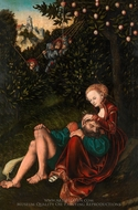 Samson and Delilah painting reproduction, Lucas Cranach