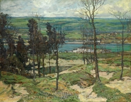 Sand Dunes near Lelant, Cornwall, England painting reproduction, Walter Elmer Schofield