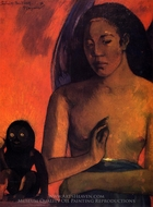 Savage Poems painting reproduction, Paul Gauguin