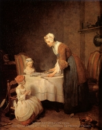 Saying Grace painting reproduction, Jean Simeon Chardin