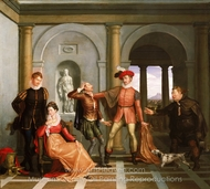 "Scene from Shakespeare's ""The Taming of the Shrew"" (Katharina and Petruchio) painting reproduction, Washington Allston"