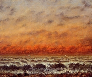 Seascape painting reproduction, Gustave Courbet
