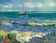 Seascape near Les Saintes Maries de la Mer painting reproduction, Vincent Van Gogh