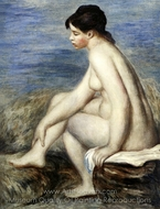 Seated Bather painting reproduction, Pierre-Auguste Renoir