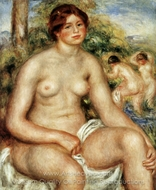 Seated Nude painting reproduction, Pierre-Auguste Renoir